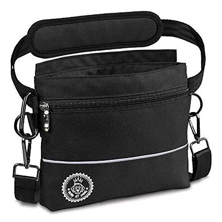 HUND IST KÖNIG Hunde Leckerlie Tasche mit Einhand-Magnet-Verschluss, 2 Zip-Fächer, herausnehmbare Innentasche, gepolsterte Tragegurte, gratis eBook & Karabiner, perfekt für Agility-Training