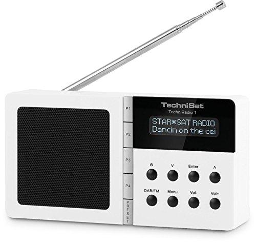 TechniSat TechniRadio 1 - Digitalradio (tragbar, DAB+, DAB, UKW-Empfang, Wecker/Sleeptimer) weiß