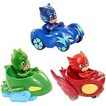 New 3Pcs/set PJ Masks Boys and CARS Popular Cartoon Toys for Kids - Nuevo 3Pcs / set PJ Masks a muchachos y los COCHES Juguetes populares de la historieta para los cabritos