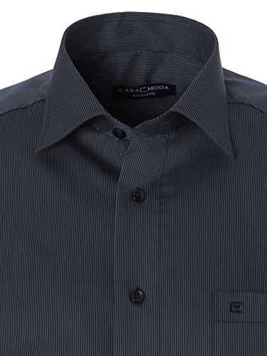 CASAMODA Herren Businesshemd 69er Ärmel Comfort Fit Anthrazit