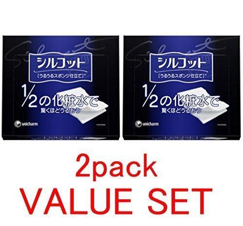 unicharm-silcot-uruuru-sponge-facial-cotton-18-ounce40-sheets-x-2-pack-value-set-by-unicharm-silcot-