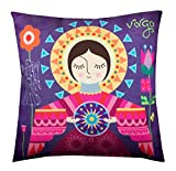 Air Castle- Home Decore- Polyester & Polyester Blend- Virgo Cushion Cover best price on Amazon @ Rs. 706