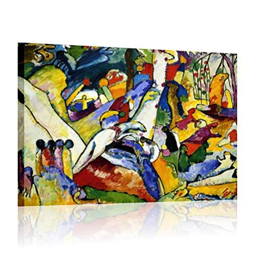 Kandinsky Composition II - Cadre moderne déjà châssis 70 x 50 cm impression sur toile auteurs Art Maison Bureau Chambre Lit Salon Hotel tableaux modernes imprimés canvas
