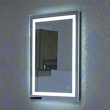 Espejo de Baño para Tocador y Espejo Espejo de Baño con Iluminación LED/Espejo de