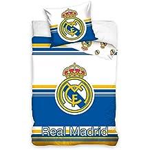 Real Madrid CF Horizontal Rayas Juego De Funda De Edredón Individual Algodón