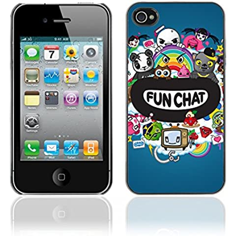 CASETOPIA / Fun Chat / Apple Iphone 4 / 4S / Prima Delgada SLIM Casa Carcasa Funda Case Bandera Cover Armor Shell PC /