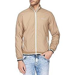 Pepe Jeans Mens Regular Fit Jacket (8907557331781_PIMT200807_Beige_X-Large)