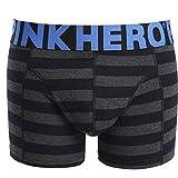 LoveLeiter Herren Underwear, PINK Heroes Herren Boxer Unterhose Knickers Sexy Slip Shorts Unterwäsche Atmungsaktive Hose Gestreifte Boxershorts für Männer