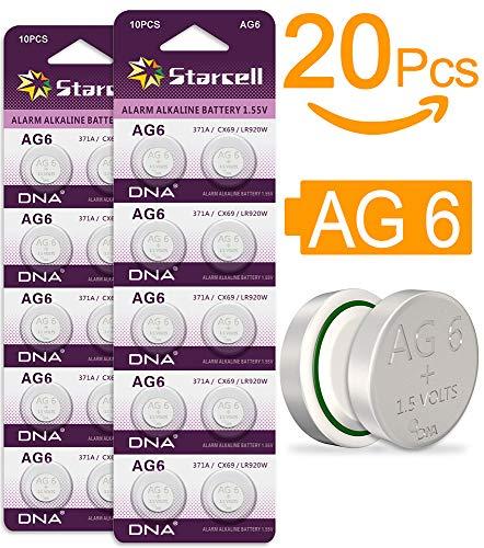 b931c994a Act alcalinas Pilas de botón sin mercurio AG6/LR69/LR921/371 (1