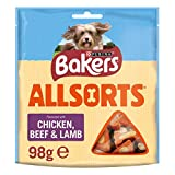Bakers Allsorts Dog Treats Chicken and Beef 98g - Case of 6 (588g)