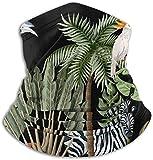 Confine Albero Tropicale Tale Palma Animali Fauna Selvatica Giungla Unisex Scaldacollo in Pile Scaldacollo Scaldacollo Scaldacollo Scaldacollo