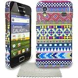 StyleBitz Etui tribal et vintage pour Samsung Galaxy Ace et S5830 avec protecteur d'écran et tissu de nettoyage (multicolore)