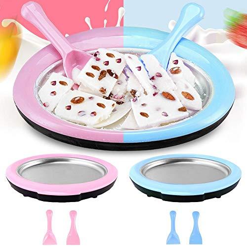 Máquina para hacer helados, Bandeja de hielo frito, Máquina para hacer helados caseros Mini Instant...