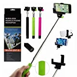 #1: higadget TM Selfie Monopod with built-in Bluetooth shutter color may vary