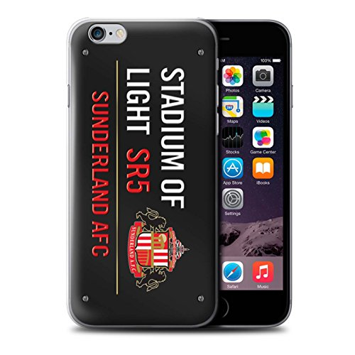 Officiel Sunderland AFC Coque / Etui pour Apple iPhone 6 / Pack 6pcs Design / SAFC Stadium of Light Signe Collection Noir/Rouge