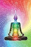 Close Up The Seven Chakras Poster Meditation (61cm x 91,5cm) + 2 St. Transparente Posterleisten mit Aufhängung