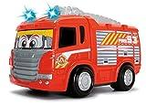 Dickie Toys 203814031 - RC Happy Scania Fire Engine, funkferngesteuertes Feuerwehrauto, für Kleinkinder ab 2 Jahren, 27 cm hergestellt von Dickie Spielzeug