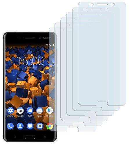 mumbi Schutzfolie kompatibel mit Nokia 6 Folie klar, Bildschirmschutzfolie (6x)