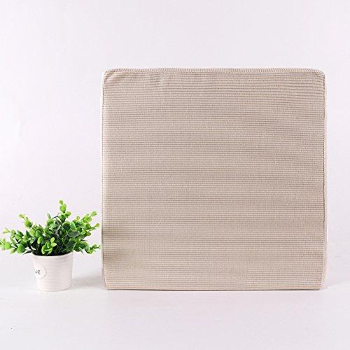 hxxxy Quadratische Tatami-matten Dick Mat Kissen,Kissen Bodenmatratze Schwamm-C 55x55cm(22x22inch) (Natürliche Matratzenauflagen)