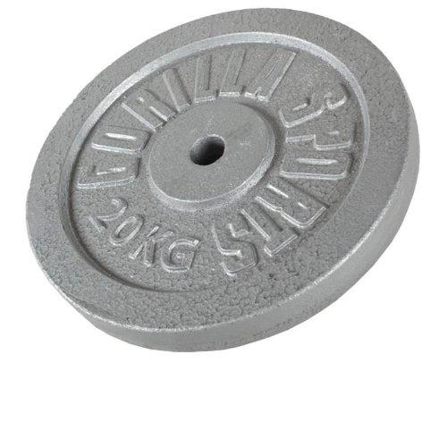 Gorilla Sports Hantelscheiben Gusseisen 20 kg, One size, 10000538;431