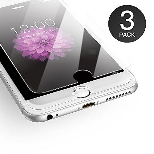 AXHKIO Verre Trempé Compatible avec iPhone 6 Plus/ iPhone 6s Plus Film de Protection, ANTI RAYURES, SANS BULLES D'AIR, 9H Ultra Résistant Dureté
