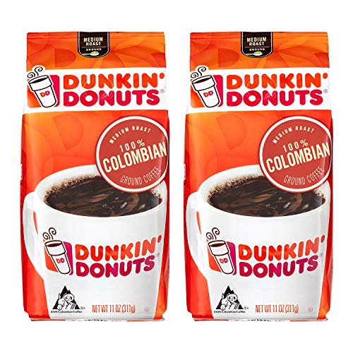 Dunkin Donuts Kolumbianische gemahlener Kaffee - (Pro Beutel 2 Packung) - Medium Roast Kolumbien Kaffee, 311 g (11 oz., Columbian Ground Coffee) (Bio-medium Roast Kaffee)