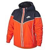 Nike Damen NSW Windrunner Windjacke, Rush Orange/Obsidian Blau/Weiß, L