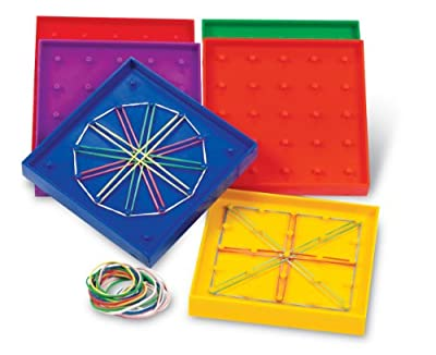 Learning Resources 5-Inch Double-Sided Assorted Geoboard, Set of 6 by Learning Resources