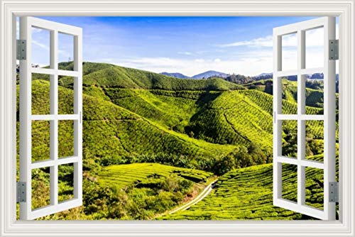 nehmbare 3D -Fenster -Ansicht -Wand -Aufkleber -Kunst -Abziehbild -Wandhauptdekor ()