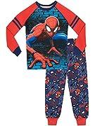 Pigiama di Spiderman per ragazzi. Lascia che il tuo piccolo Avenger sia Super con il meraviglioso pigiama dell'Uomo Ragno! Il completo da notte rosso e blu si compone di maglia che riporta una stampa del famosissimo supereroe; in più sulle ma...
