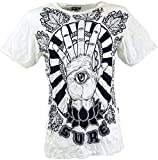 Guru-Shop Sure T-Shirt Magic Eye, Herren, Weiß, Baumwolle, Size:L, Bedrucktes Shirt Alternative Bekleidung