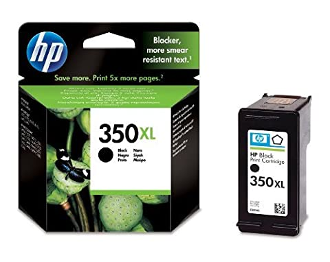 HP 350XL - Print cartridge - 1 x black - 1000 pages - blister with RF alarm