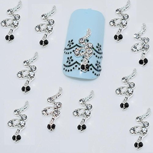3D Nail Art Strass Serpent (Lot de 10) 1,5 cm x 0,6 cm Collection 1