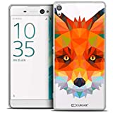 Caseink - Coque Housse Etui pour Sony Xperia XA Ultra 6 [Crystal HD Polygon Series Animal - Rigide - Ultra Fin - Imprimé en France] - Renard