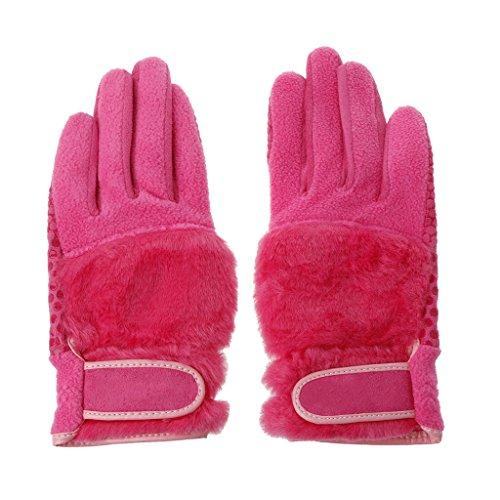 Lergo Winter Therma Grip Damen Golf Driving Sport Handschuhe Anti Rutsch Langlebig Oberfläche Fäustlinge, Rose