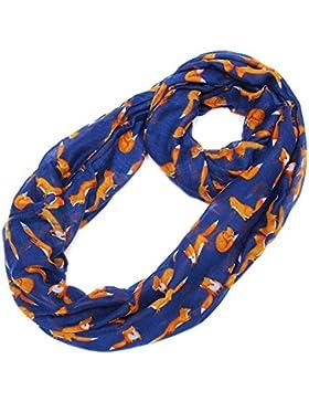 Lureme Women's Moda Ligero Fox Pattern Voile Wrap Shawl Bufanda (sf000007)