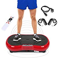 Wefun Fitness Plate Vibrationstrainer Multi-Funktions mit Bluetooth und USB,Vibrationsplatte Body-Shaper der Eignungs-Ausr/üstung f/ür Den B/üro-Wohnzimmer