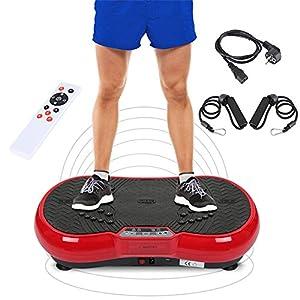 Wefun Fitness Plate Vibrationstrainer, für Den Büro-Wohnzimmer, Multi-Funktions mit Bluetooth und USB,Vibrationsplatte Body-Shaper der Eignungs-Ausrüstung