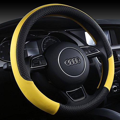 Preisvergleich Produktbild myfei PU Leder Universal KFZ steering-wheel,  38 cm car-styling umfasst die rutschfeste Automotive Zubehör Fit für die meisten Autos Styling