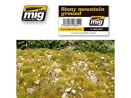 AMMO MIG-8351 Stony Mountain - Alfombrillas de césped Multicolor