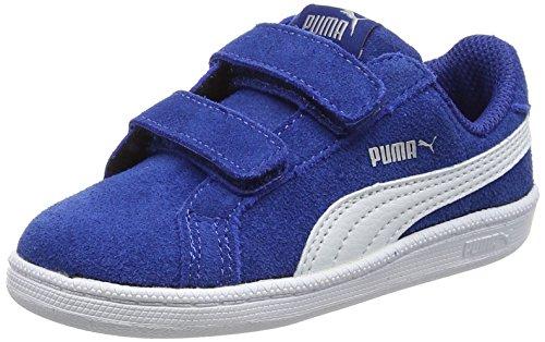Puma Unisex-Kinder Smash Fun Sd V Inf Low-Top Blau (true blue-puma white 06)