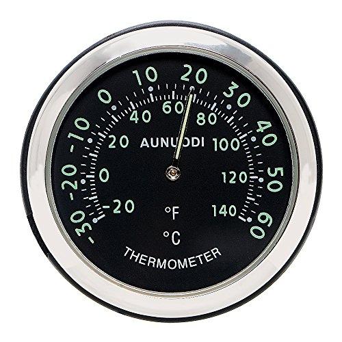 Holdream Auto-Thermometer mit leuchtenden Elementen und Clip zum Befestigen an Lüftungsschlitzen, Deko-Zubehör, Schwarz