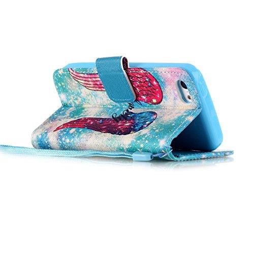 Meet de Apple iPhone 5C Bookstyle Étui Housse étui coque Case Cover smart flip cuir Case à rabat pour Apple iPhone 5C Coque de protection Portefeuille - Have a nice day barrière