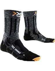 X-Socks Hombre xtrek King Summer wanderstrumpf, otoño/invierno, hombre, color gris y negro, tamaño 35/38