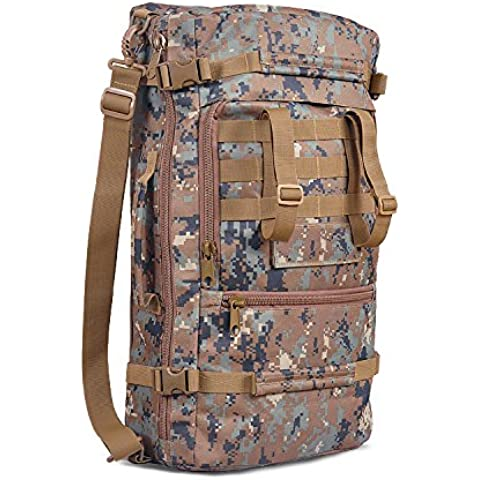 MaMaison007 Paquete de 60L mochila táctica al aire libre senderismo Camping senderismo mochila - camuflaje de selva