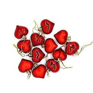 MA87 – 12 Bolas Decorativas para árbol de Navidad, Color Dorado, Plateado, Rojo, Morado