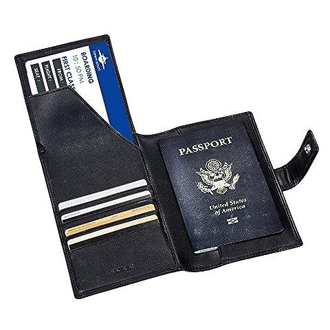 Travel Passport Wallets Organizer Genuine Leather RFID Blocking Purse Document Holder Ticket Credit ID card Money Cash Clip Case Bag