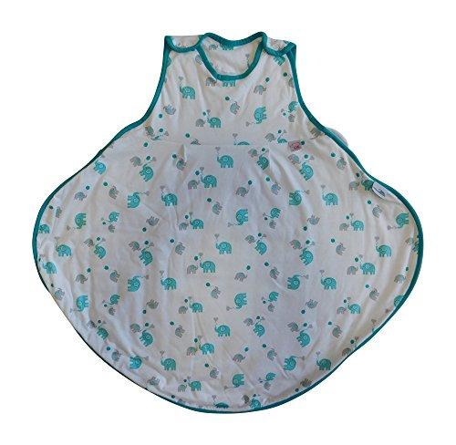Schlummersack Ganzjahres Babyschlafsack Elefanten Unisex 2.5 Tog für Babys mit Hüftdysplasie Größe 70 cm / 6-18 Monate (Baby Hüftdysplasie)