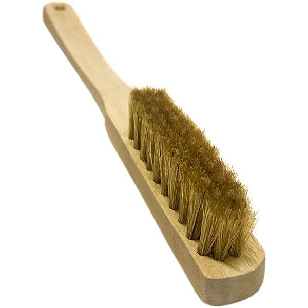 Psychi – Cepillo limpieza, mango de madera y cerdas de pelo ...