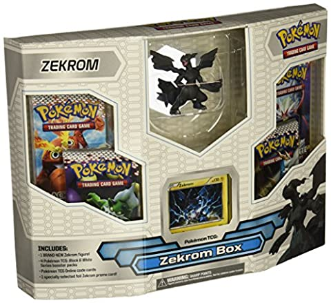 Pokemon Black White Card Game ZEKROM Box 4 Booster Packs, 1 Holo Promo Card 1...